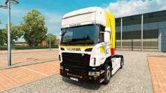 La piel de Itapemirim en el tractor Scania