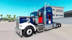 La piel Halcones de Atlanta en el camión Kenwort