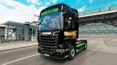 La piel Revada & de Keuster en el tractor Scania