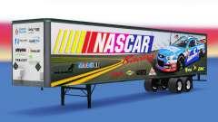 La piel en NASCAR todo-metal remolque