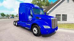 La piel JNJ Express Inc. el tractor Peterbilt
