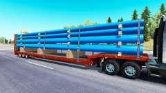 Baja de barrido con un cargamento de tubos