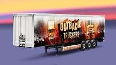 Outback los Camioneros de la piel en el remolque