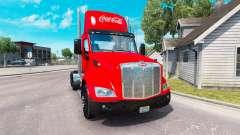 La piel de Coca-Cola de camiones Peterbilt