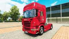 La piel de 1. FC Nurnberg en el Scania truck