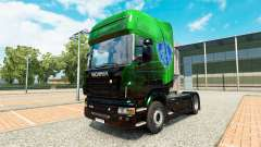 Exclusivo Metálico de la piel para Scania camión