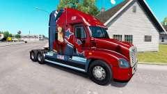 La piel Mandy en tractor Freightliner Cascadia