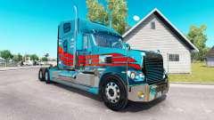 La piel en el camión Freightliner Coronado