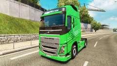 Flecha verde de la piel para camiones Volvo