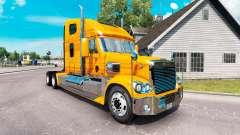 La piel Metálica del camión Freightliner Coronad