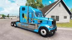 La piel de a&R en el camión Freightliner Coronad