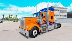 Скин Azul Rayas en Naranja на Kenworth W900