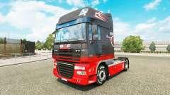 Gris Rojo de la piel para DAF camión