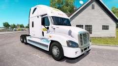 La piel en el J. B. Hunt tractor Freightliner Ca