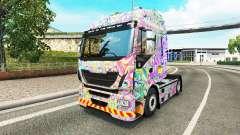 La piel Psicodélico en el camión Iveco
