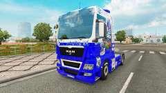 La piel FC Schalke 04 en el tractor HOMBRE