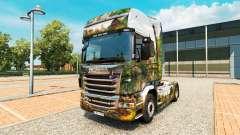 La piel del Parque Central de camiones Scania