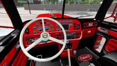 El interior es de color Rojo y Negro Peterbilt 3