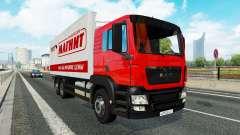 Una colección de camiones de transporte para el