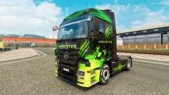 La piel del Monstruo de camiones de Mercedes-Ben