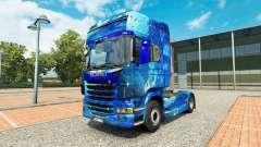 De Agua de la piel en el tractor Scania