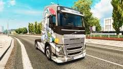 La piel del Euro Logística en Volvo trucks