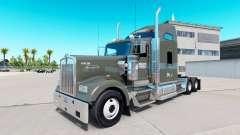 La piel de Caballero camión Refrigerado Kenworth