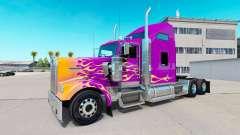 La piel de California Llamas en el camión Kenwor