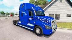 La Piel Prime Inc. en el tractor Freightliner Ca