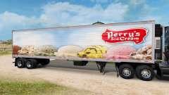 La piel Perrys Helado en el semirremolque-el ref