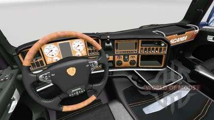 La Oscuridad de la Línea interior Exclusivo v2.0 para Scania para Euro Truck Simulator 2