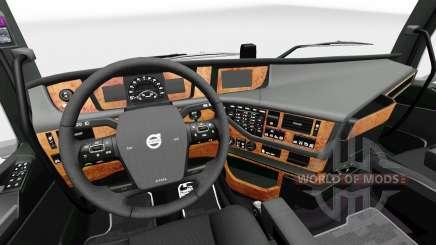 Darkline interior Exclusivo para Volvo para Euro Truck Simulator 2