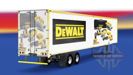 La piel DeWALT en el trailer para American Truck Simulator