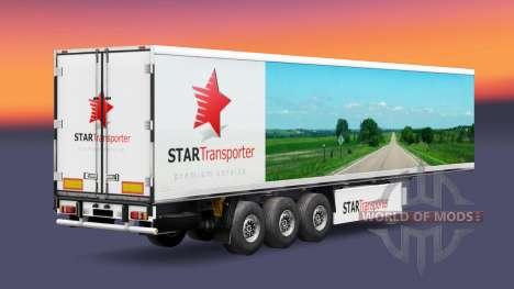 La piel de la Estrella de Transporte en semi-rem para Euro Truck Simulator 2