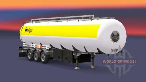 La piel Agip combustible semi-remolque para Euro Truck Simulator 2