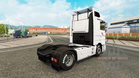 La piel BGL para tractor Mercedes-Benz para Euro Truck Simulator 2
