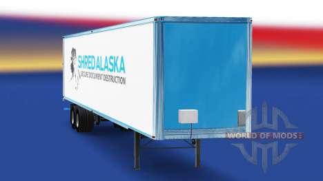 La piel Triturar Alaska en el remolque para American Truck Simulator