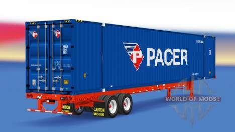 Semirremolque contenedor de Pacer para American Truck Simulator
