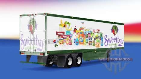 La piel Sweetbay Supermercado en el remolque para American Truck Simulator