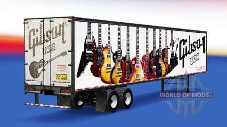 La piel de Guitarras Gibson en el remolque para American Truck Simulator