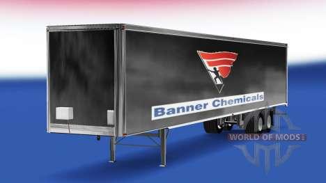 La piel Banner productos Químicos v2.0 en el sem para American Truck Simulator