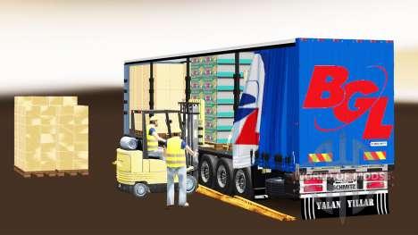 Cortina semi-remolque Schmitz Cargobull BGL para Euro Truck Simulator 2