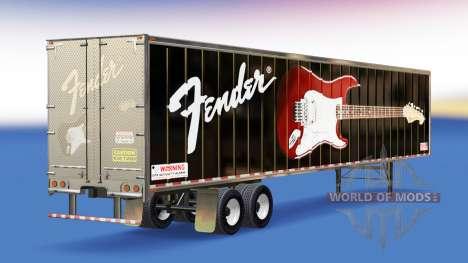 La piel Guitarras Fender en el remolque para American Truck Simulator