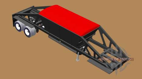 Semi-remolque basculante con descarga inferior para American Truck Simulator