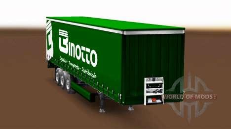 Binotto Transportes de la piel para el remolque  para Euro Truck Simulator 2