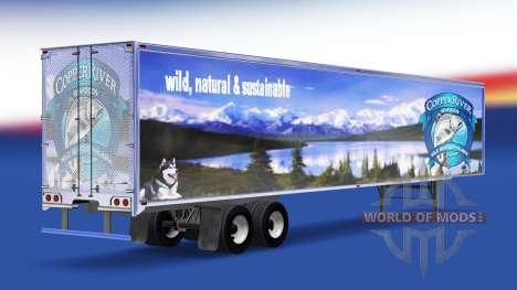 La piel de Cobre de Río de Mariscos en el remolq para American Truck Simulator