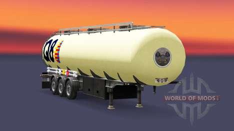 La piel P8 combustible semi-remolque para Euro Truck Simulator 2