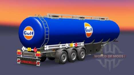 La piel del Golfo de combustible semi-remolque para Euro Truck Simulator 2