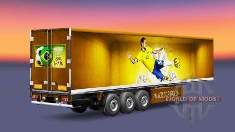 La piel de Brasil 2014 para remolques para Euro Truck Simulator 2