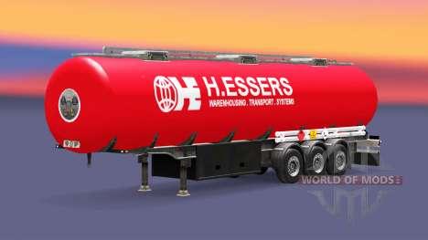 La piel H. Essers de combustible semi-remolque para Euro Truck Simulator 2